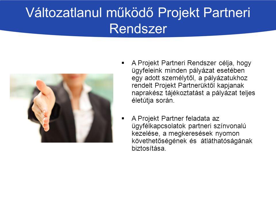 Változatlanul működő Projekt Partneri Rendszer