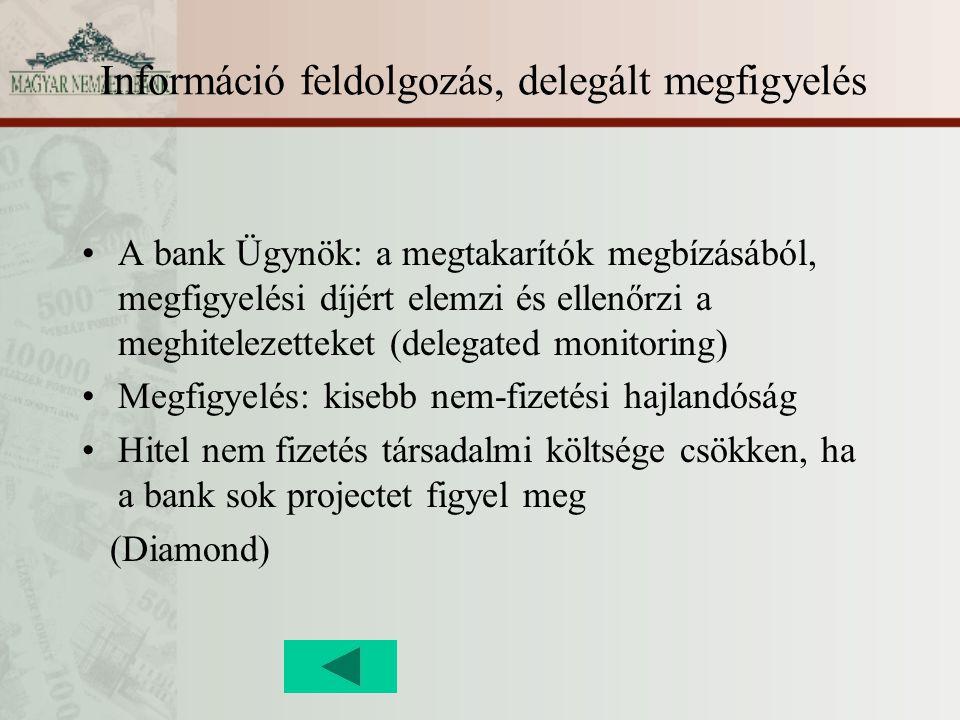 Információ feldolgozás, delegált megfigyelés