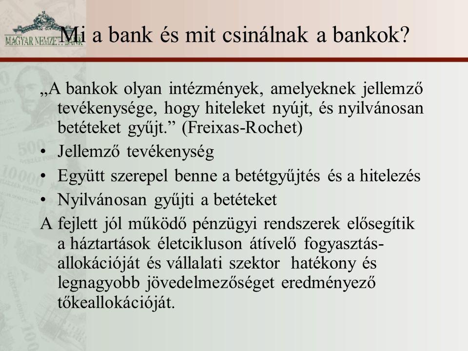 Mi a bank és mit csinálnak a bankok