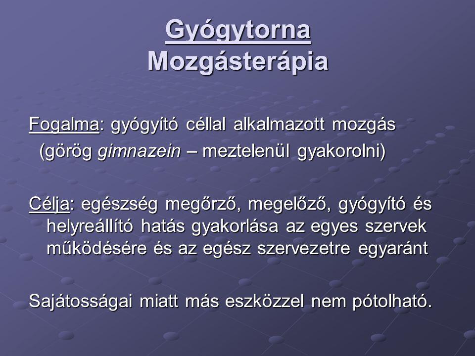 Gyógytorna Mozgásterápia