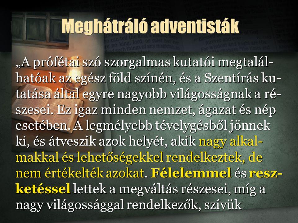 Meghátráló adventisták