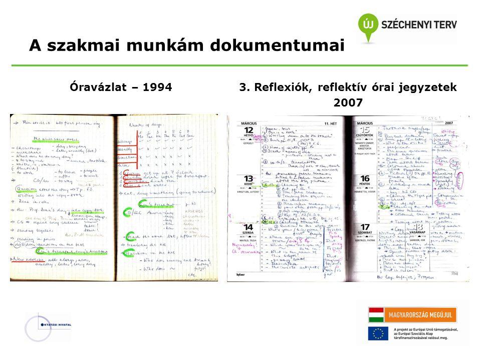 A szakmai munkám dokumentumai