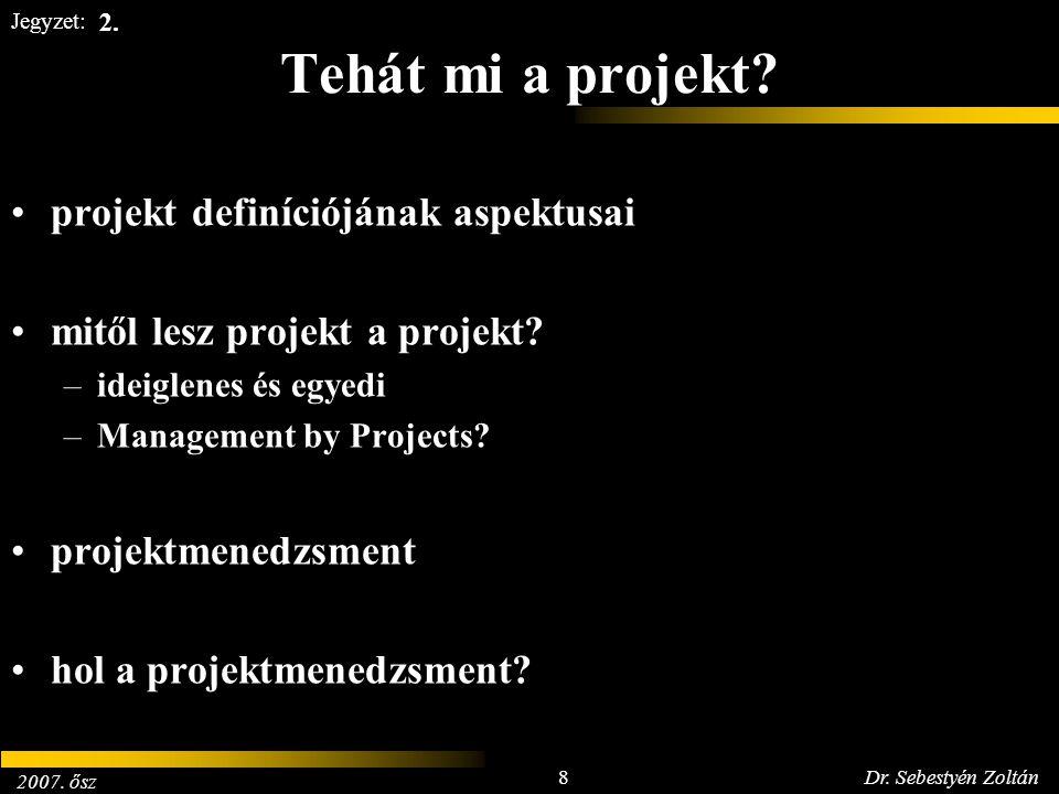 Tehát mi a projekt projekt definíciójának aspektusai