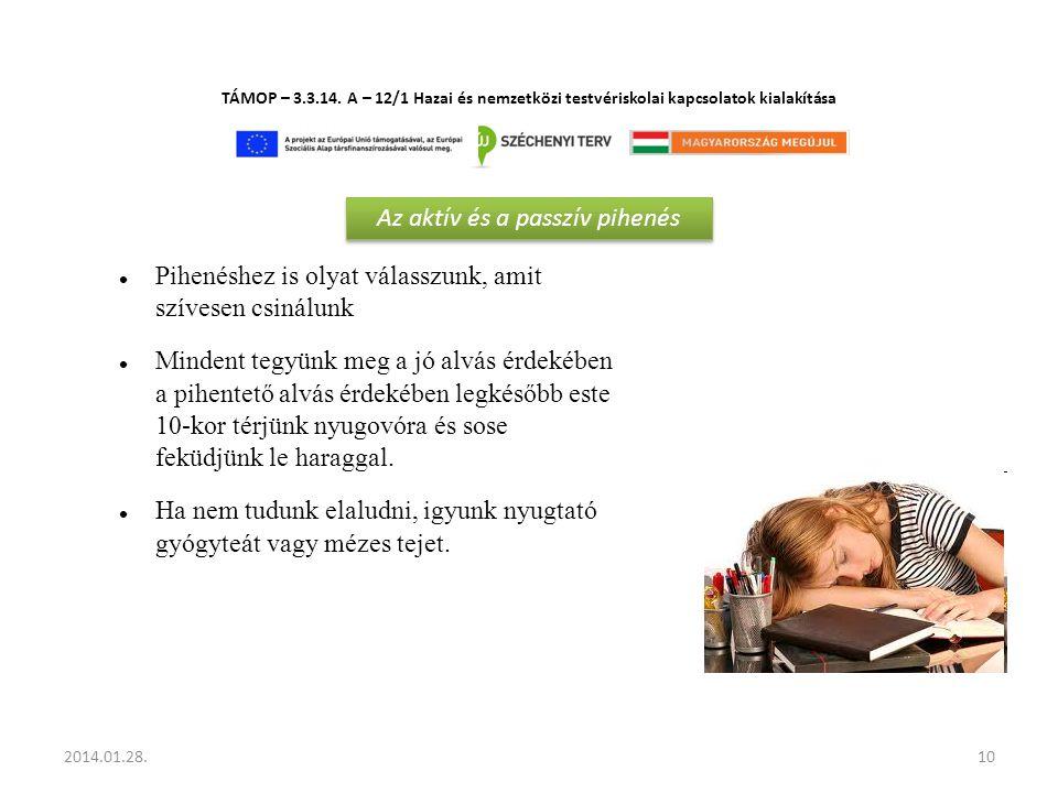 Az aktív és a passzív pihenés