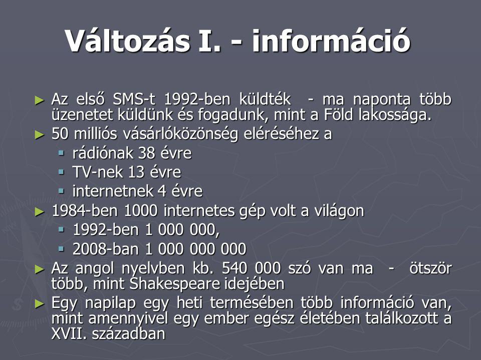 Változás I. - információ
