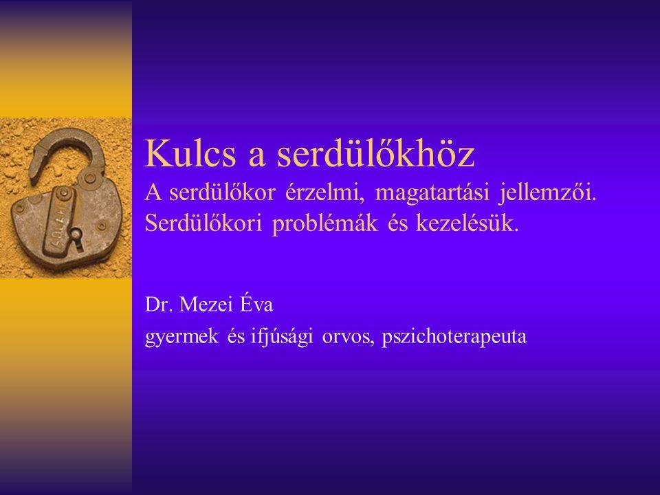 Dr. Mezei Éva gyermek és ifjúsági orvos, pszichoterapeuta