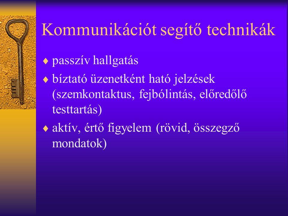 Kommunikációt segítő technikák