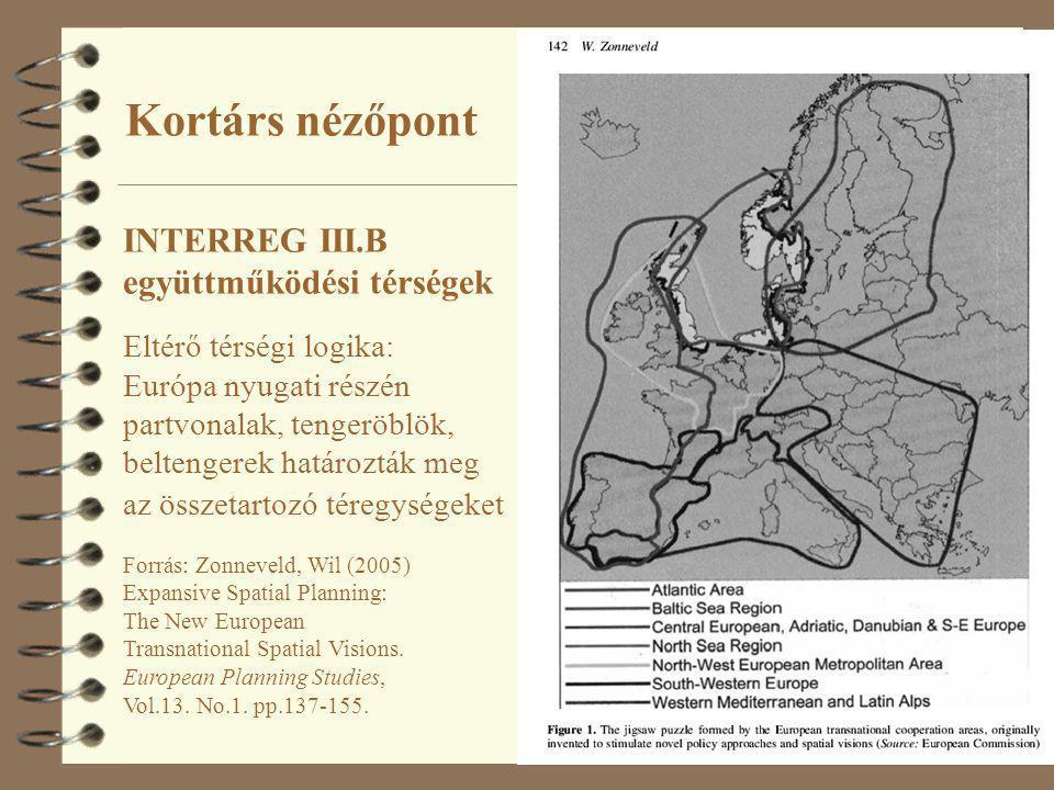 Kortárs nézőpont INTERREG III.B együttműködési térségek