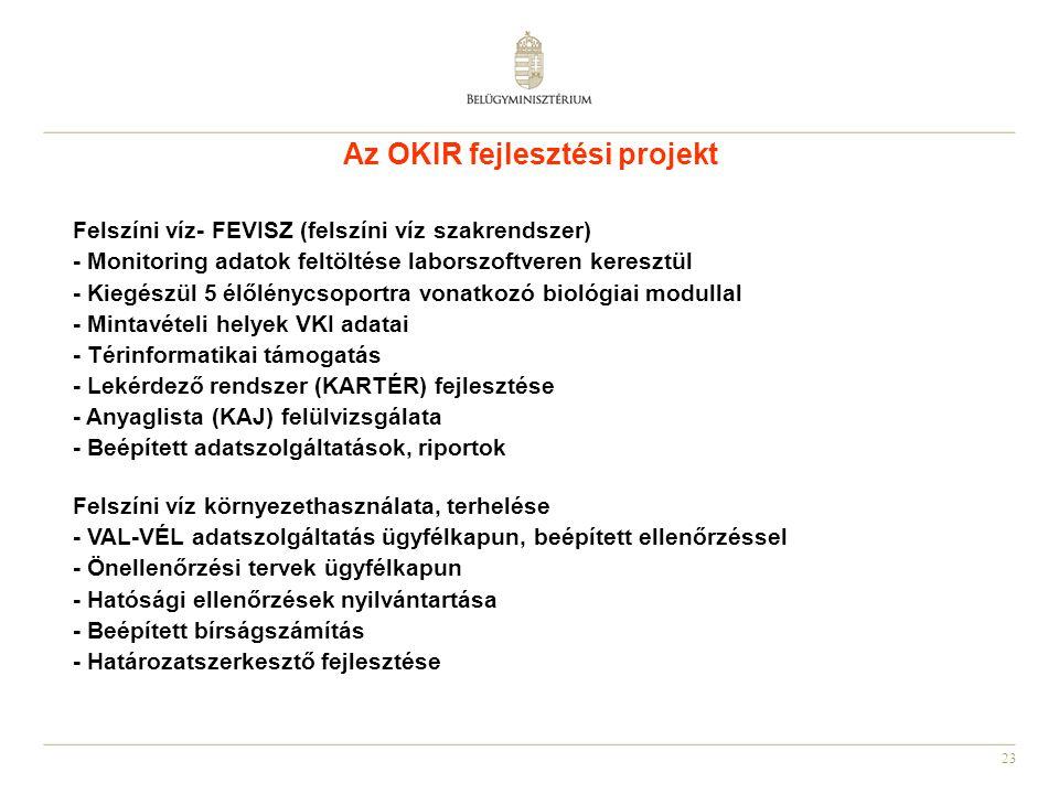 Az OKIR fejlesztési projekt