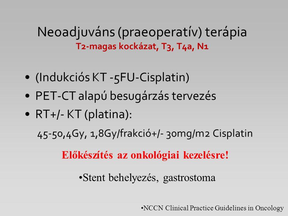 Neoadjuváns (praeoperatív) terápia T2-magas kockázat, T3, T4a, N1
