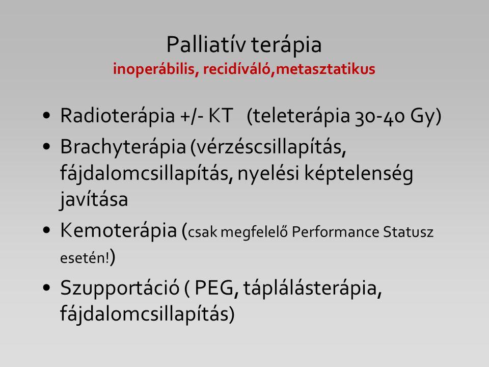 Palliatív terápia inoperábilis, recidíváló,metasztatikus
