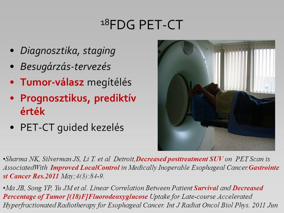 18FDG PET-CT Diagnosztika, staging Besugárzás-tervezés