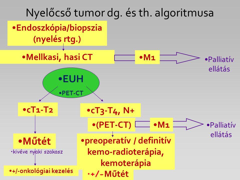 Nyelőcső tumor dg. és th. algoritmusa