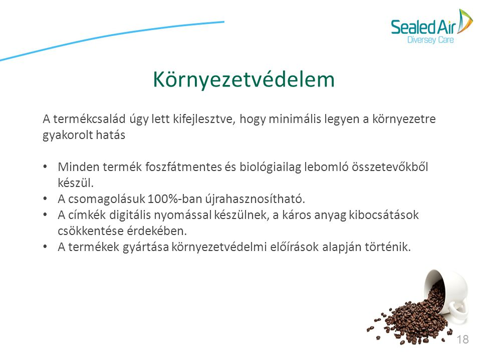 Környezetvédelem A termékcsalád úgy lett kifejlesztve, hogy minimális legyen a környezetre gyakorolt hatás.