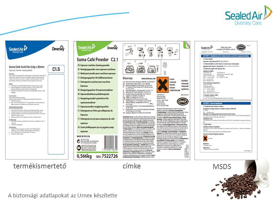 termékismertető címke MSDS