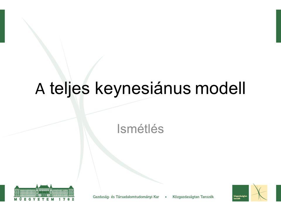 A teljes keynesiánus modell