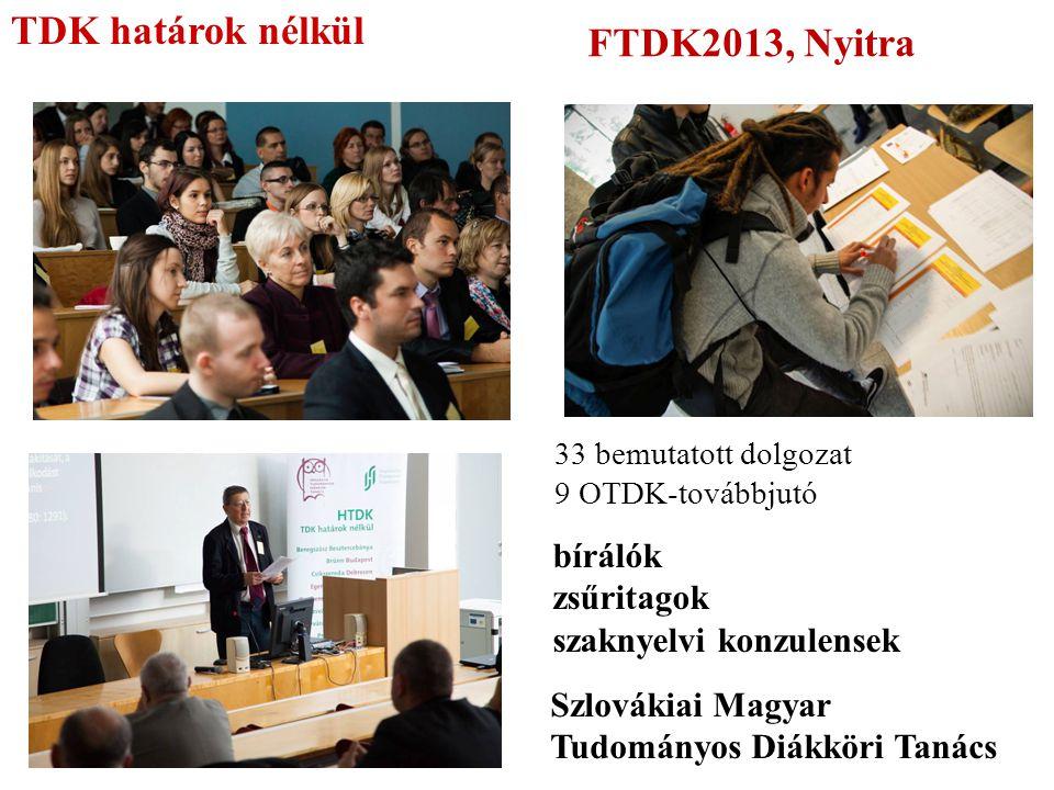 TDK határok nélkül FTDK2013, Nyitra bírálók zsűritagok