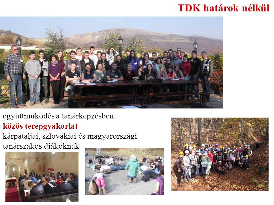 TDK határok nélkül együttműködés a tanárképzésben: