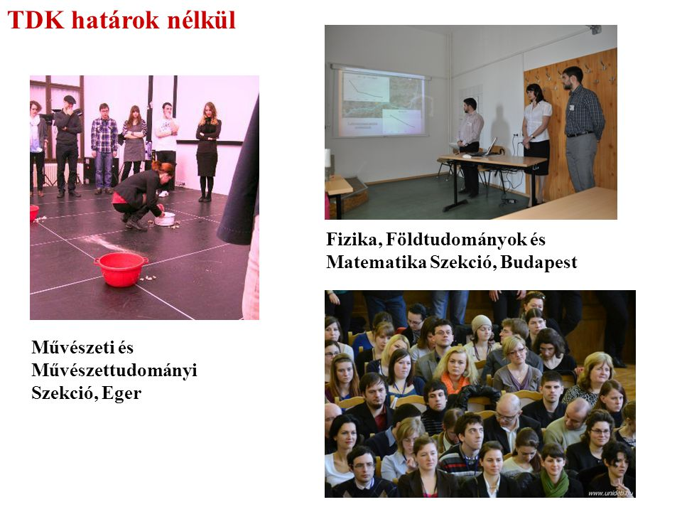 TDK határok nélkül Fizika, Földtudományok és Matematika Szekció, Budapest.