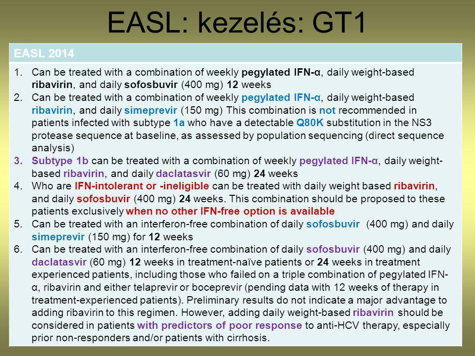 EASL: kezelés: GT1 EASL 2014.