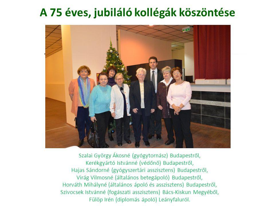 A 75 éves, jubiláló kollégák köszöntése