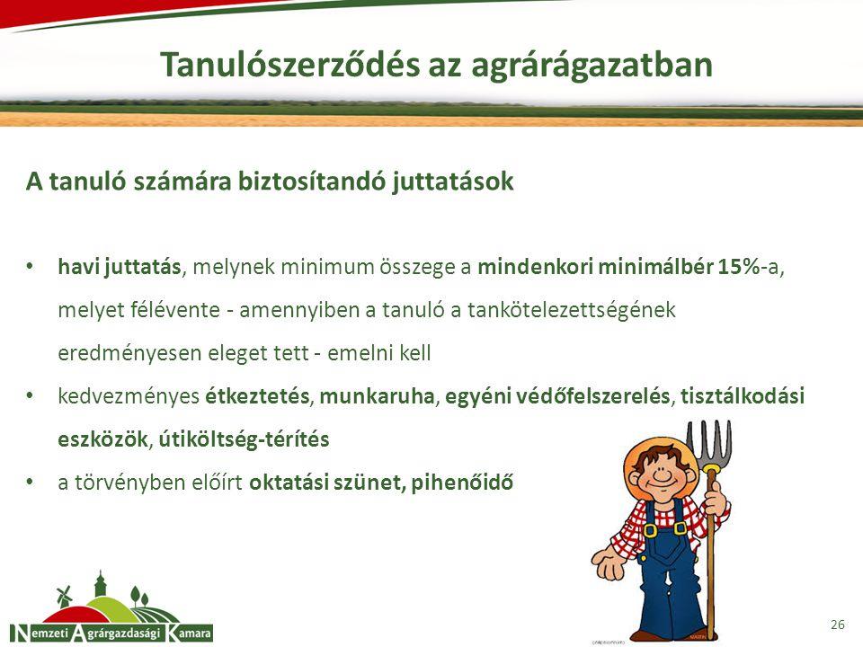 Tanulószerződés az agrárágazatban