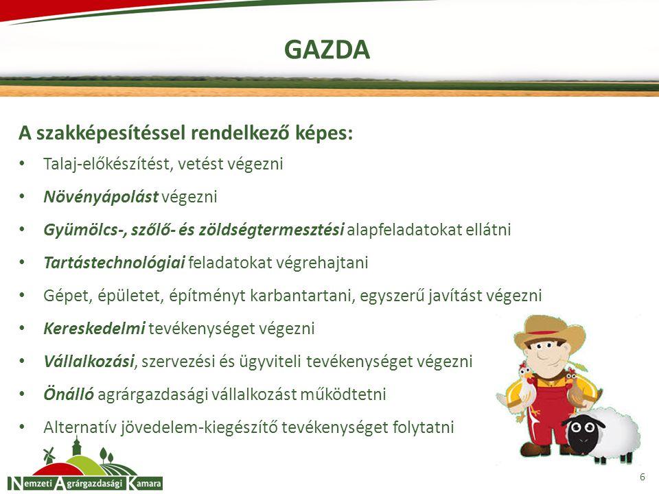 GAZDA A szakképesítéssel rendelkező képes: