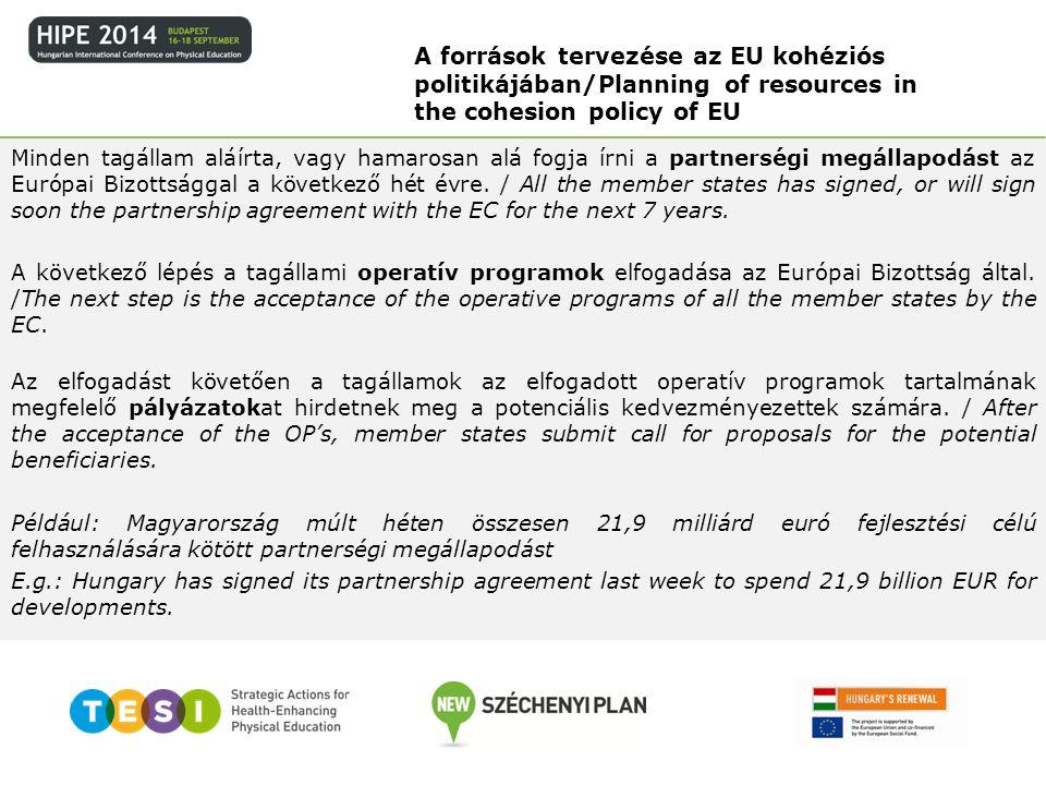 A források tervezése az EU kohéziós politikájában/Planning of resources in the cohesion policy of EU