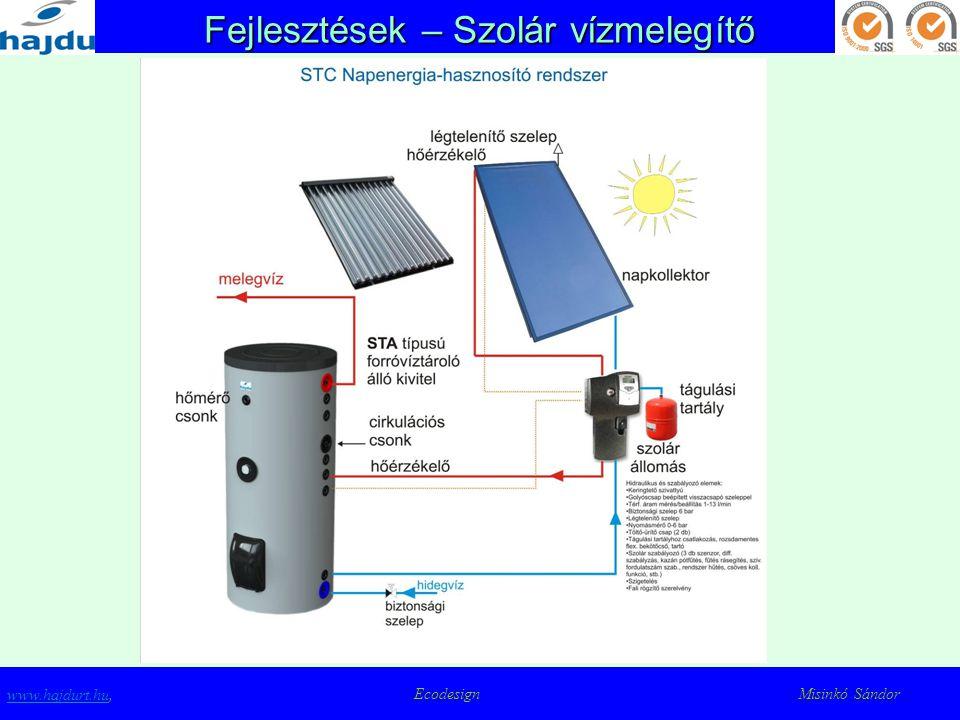 Fejlesztések – Szolár vízmelegítő