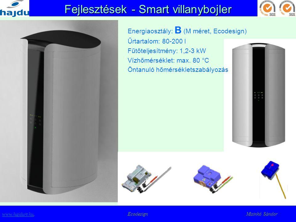 Fejlesztések - Smart villanybojler