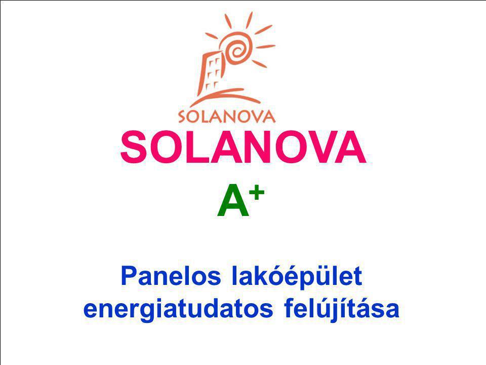 SOLANOVA A+ Panelos lakóépület energiatudatos felújítása