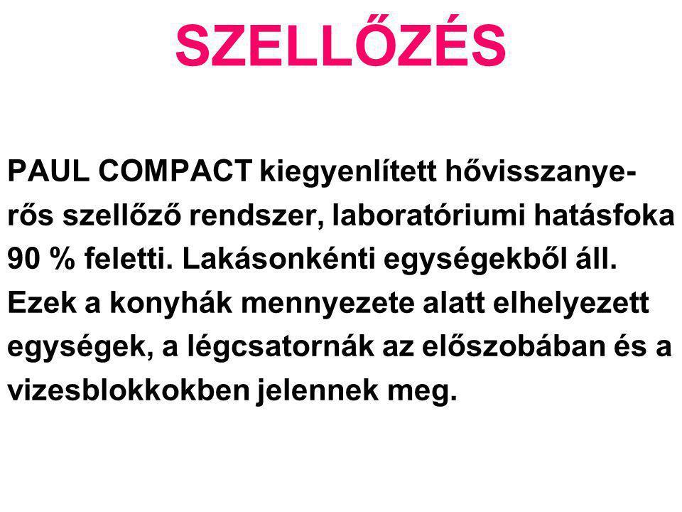 SZELLŐZÉS PAUL COMPACT kiegyenlített hővisszanye-