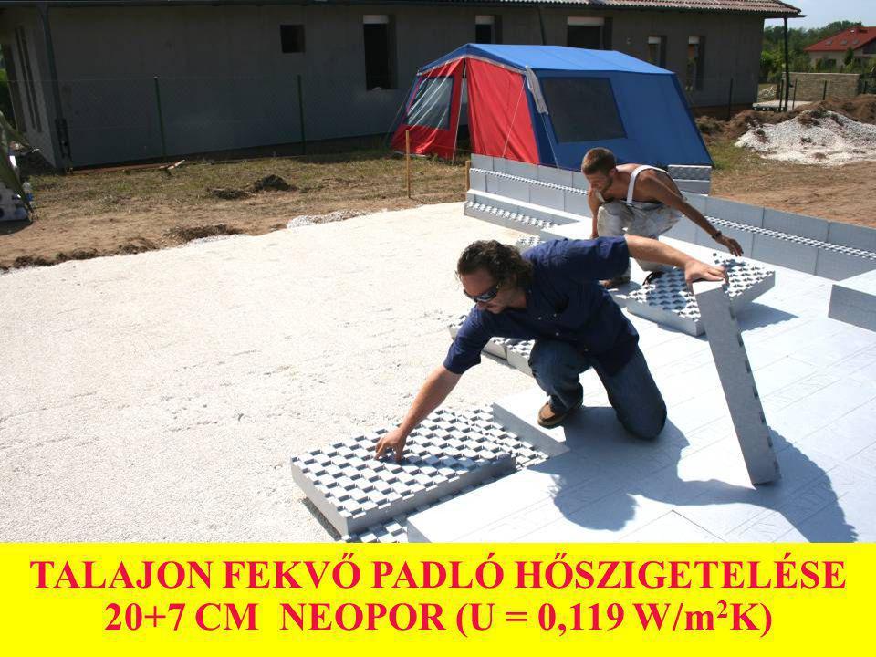 TALAJON FEKVŐ PADLÓ HŐSZIGETELÉSE 20+7 CM NEOPOR (U = 0,119 W/m2K)