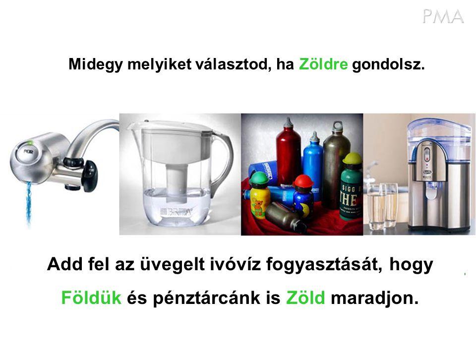 Add fel az üvegelt ivóvíz fogyasztását, hogy