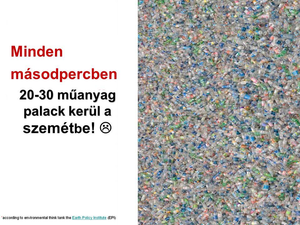 20-30 műanyag palack kerül a szemétbe! 