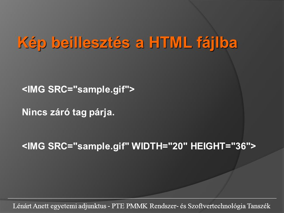 Kép beillesztés a HTML fájlba