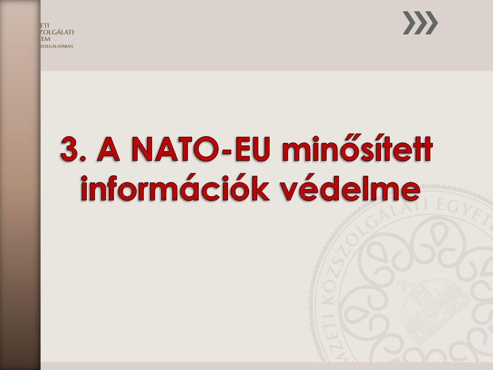 3. A NATO-EU minősített információk védelme