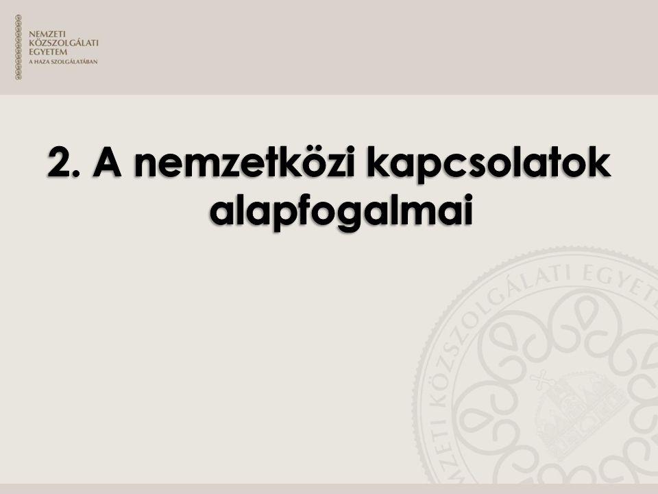 2. A nemzetközi kapcsolatok alapfogalmai