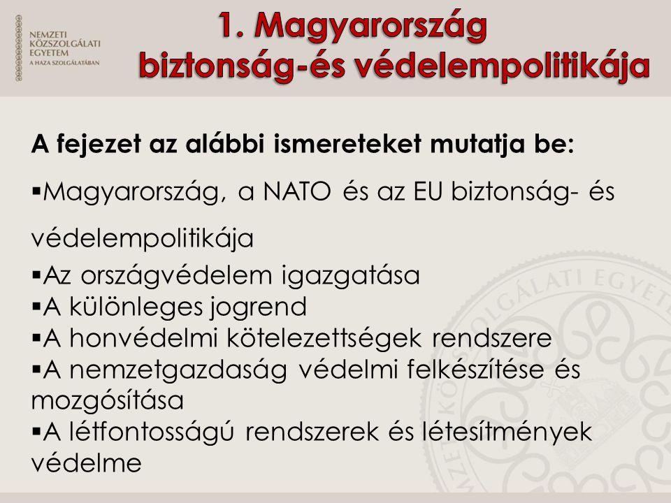 1. Magyarország biztonság-és védelempolitikája
