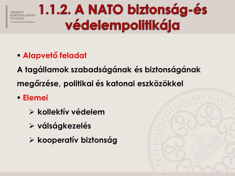 1.1.2. A NATO biztonság-és védelempolitikája