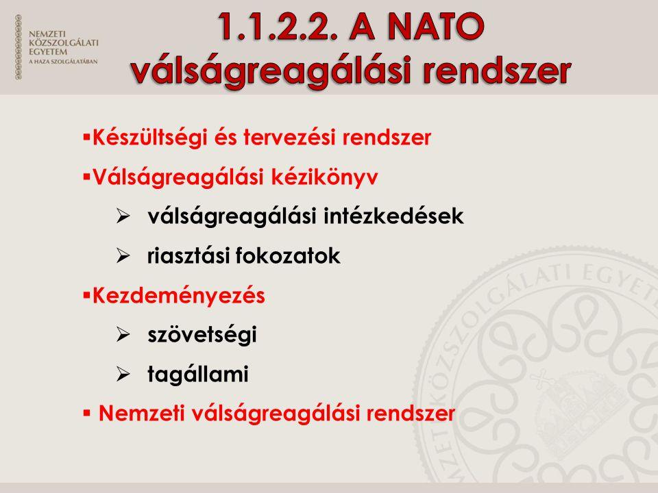 1.1.2.2. A NATO válságreagálási rendszer