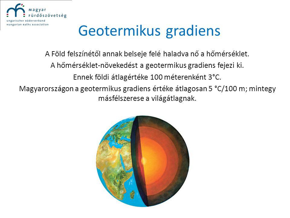 Geotermikus gradiens A Föld felszínétől annak belseje felé haladva nő a hőmérséklet. A hőmérséklet-növekedést a geotermikus gradiens fejezi ki.