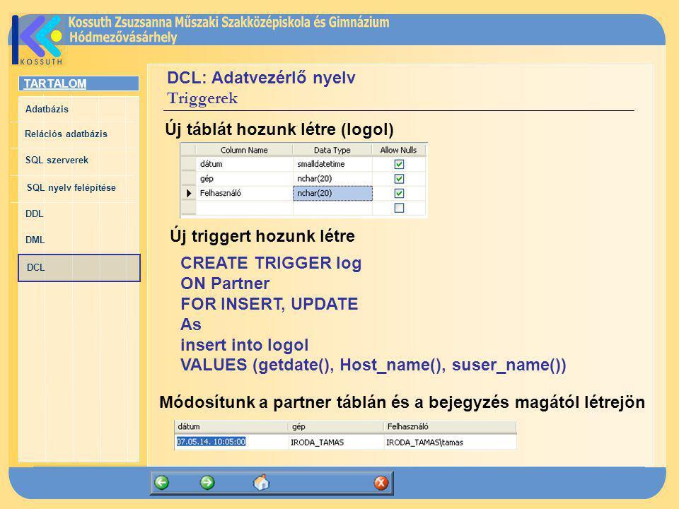 DCL: Adatvezérlő nyelv