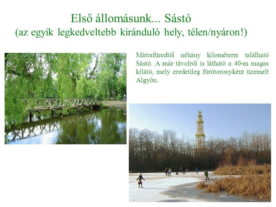 Első állomásunk... Sástó (az egyik legkedveltebb kiránduló hely, télen/nyáron!)