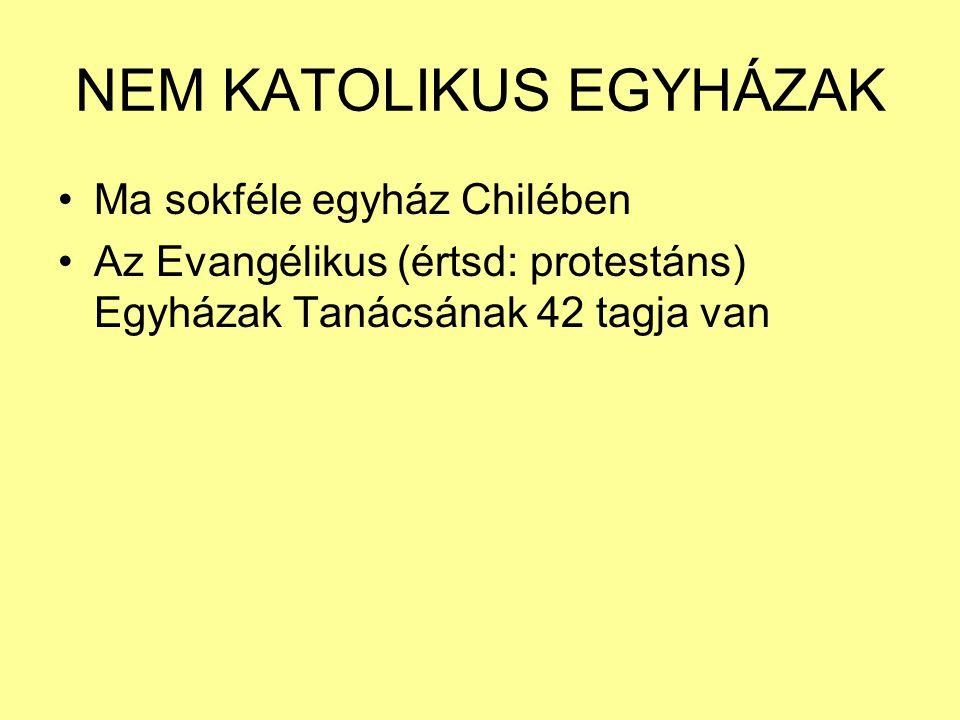 NEM KATOLIKUS EGYHÁZAK