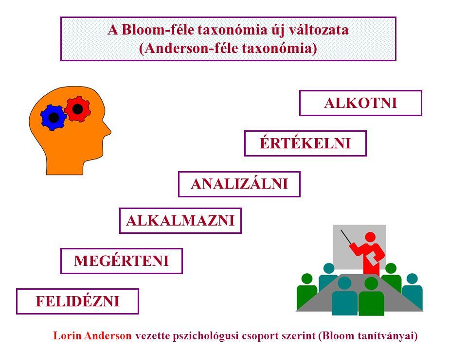 A Bloom-féle taxonómia új változata (Anderson-féle taxonómia)