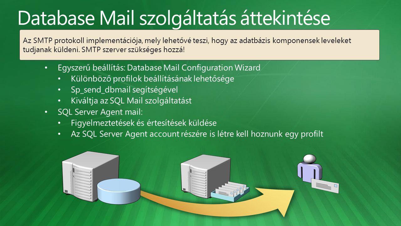 Database Mail szolgáltatás áttekintése