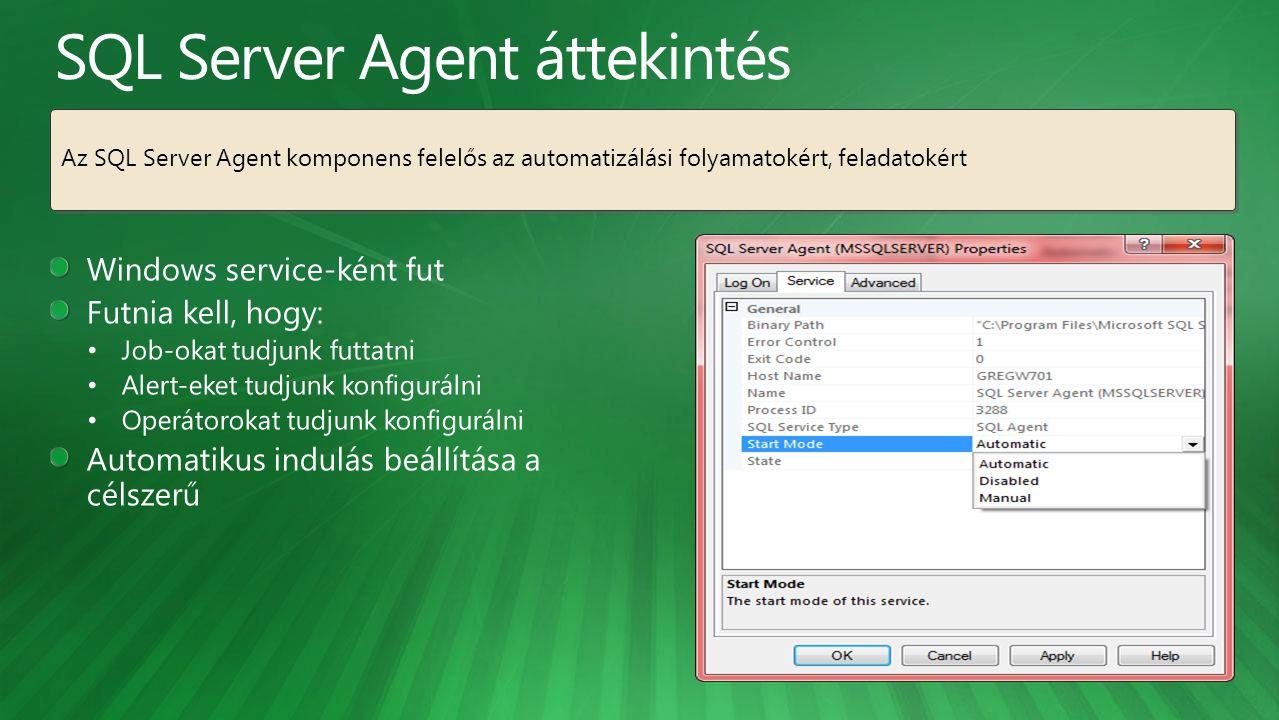 SQL Server Agent áttekintés