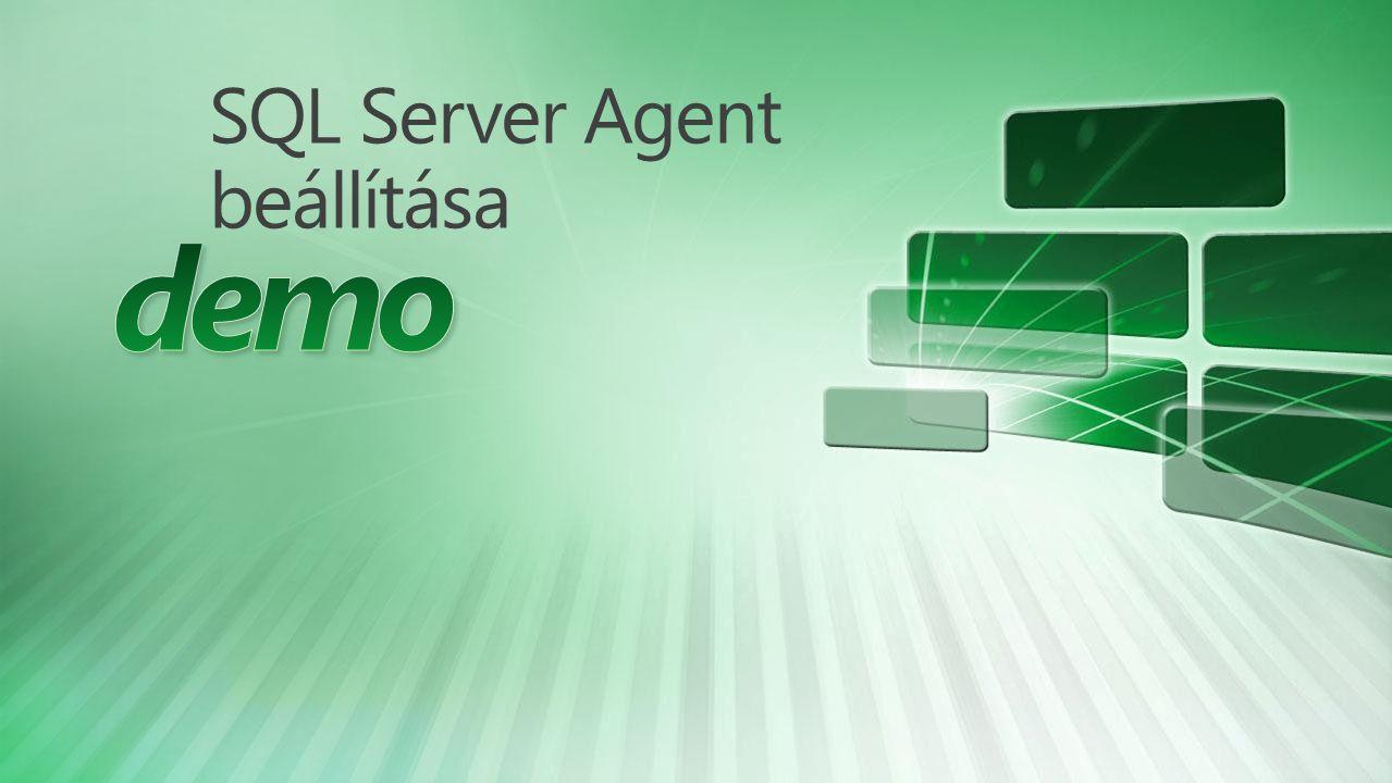 SQL Server Agent beállítása