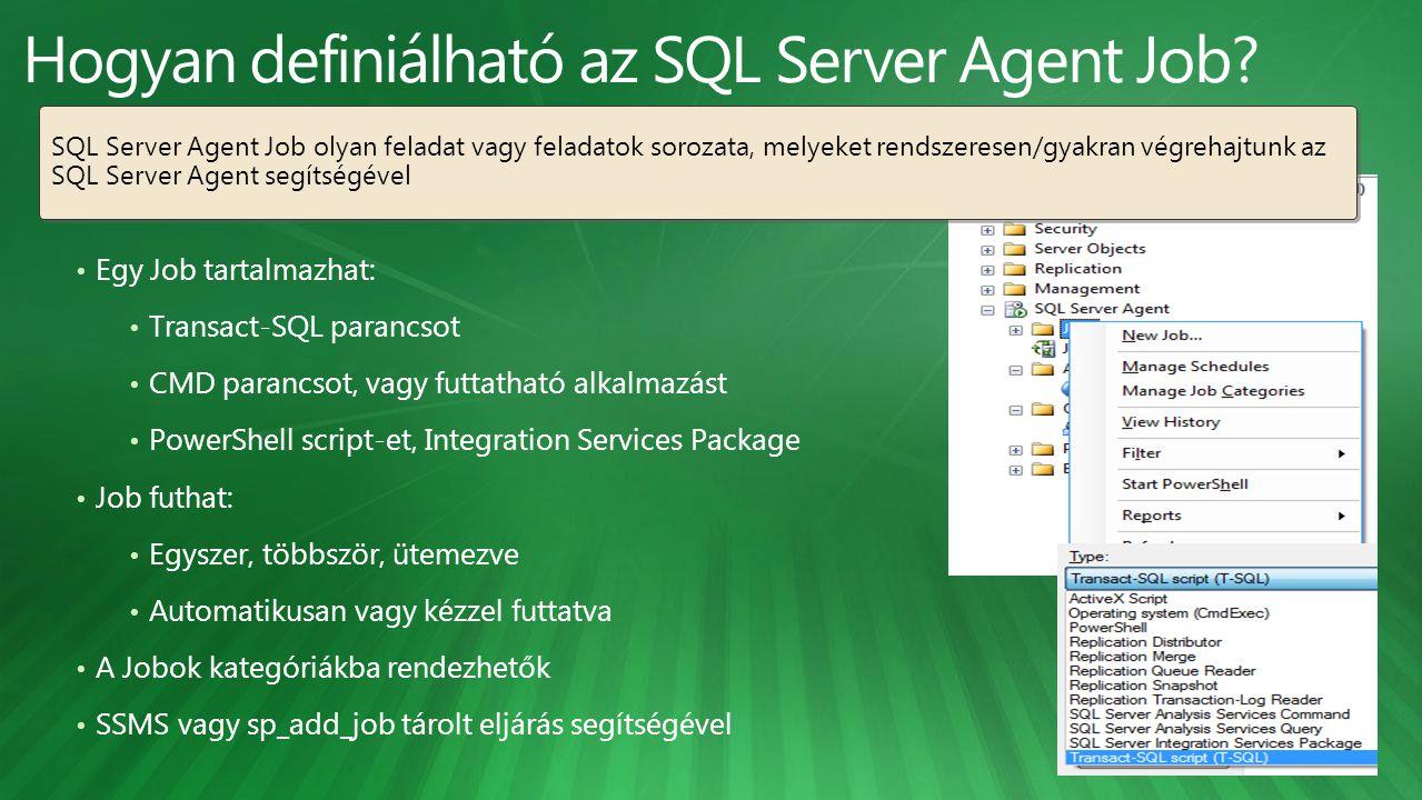 Hogyan definiálható az SQL Server Agent Job
